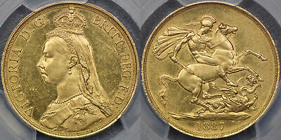 Great Britain, 1887 Two Pound - PCGS MS62