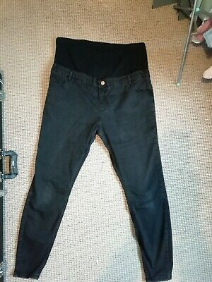 ASOS Ridley Black Maternity Jeans Size 20 Tall Long