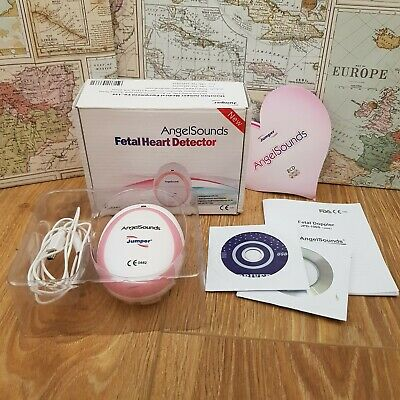 Baby Fetal Heart Detector Prenatal Monitor Angelsounds Boxed Inc Ultrasound Gel