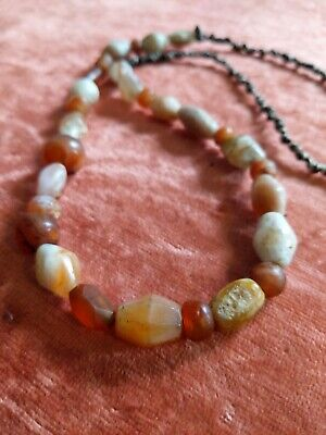 Ancient Roman Carnelian Agate Beads Antiquities Faceted 29 Beads 50g Trade Beads