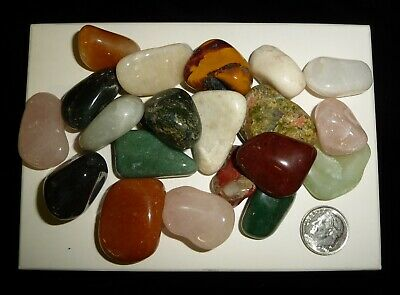 Tumbled Chakra Polished Stones 186 grams Reiki Crystals