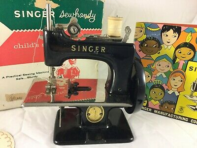 Vintage Singer Sewhandy Model No.20 Kids Real Sewing Machine W/Box Excellent