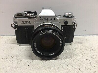 Canon AE-1 Program 35mm SLR Camera with 50mm f/1.8 Lens