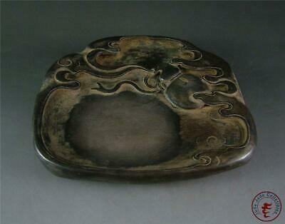 Antique Old Chinese Duan Yan Carved Inkstone TOP QUALITY MATERIAL PRECIOUS