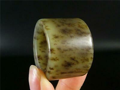 Old Chinese Celadon Nephrite Jade Archer's Thumb Ring TOP QUALITY GOOD CONDITION