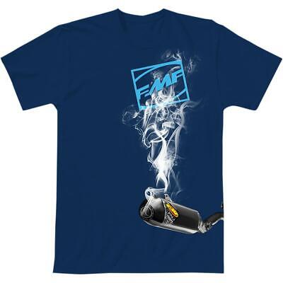 FMF Racing Boxcage T-Shirt (Blue, X-Large)