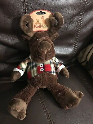 Kellypet 12'' Holiday Cuddle Moose W/Squeaker Dog Toy
