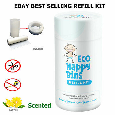 Sangenic Tommee Tippee  Nappy Bin Refill Kit - 100% Compatible - 40 Cassettes