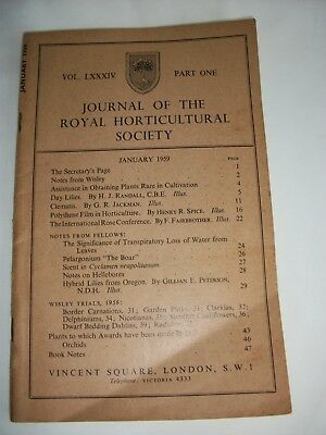 Journal of the Royal Horticultural Society January 1959