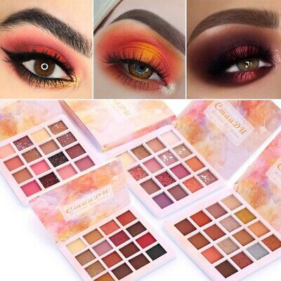16 Color Eye Shadow Makeup Shimmer Matte Eyeshadow Palette Set Cosmetic Tool