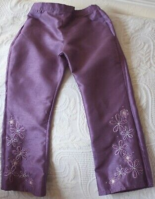 Fabulous silk effect purple trousers from Next, age 4yrs