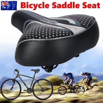 Large Bum Bike Saddle Seat Bicycle Gel Ladies Cycling Sprung Cushion Comfortable