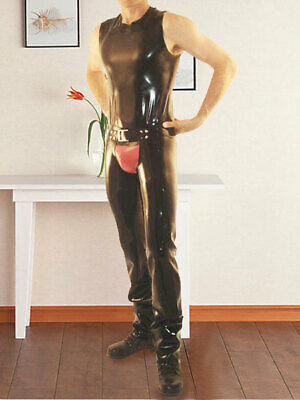 Latex Rubber Catsuit Tights 100% Rubber Gummi Ganzanzug Set uniform Sexy S-XXL