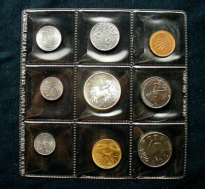 1979 SAN MARINO complete set 9 coins with silver UNC Italy