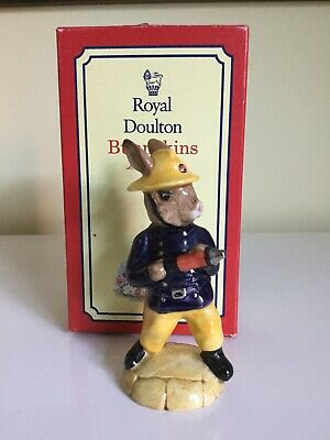 Royal Doulton Fireman Db75 Bunnykins Figurine Year 1988 - Boxed
