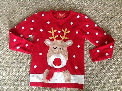 Primark Red Christmas Jumper Age 11-12 Years.