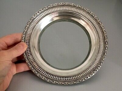 Frank M. Whiting Sterling & Glass Talisman Rose Dish Or Deep Plate #2, Xlnt Cond