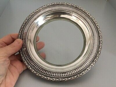 Frank M. Whiting Sterling & Glass Talisman Rose Dish Or Deep Plate #1, Xlnt Cond