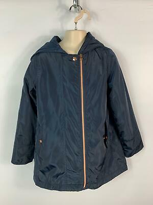Girls John Lewis Navy Blue Light Weight Hooded Rain Coat Jacket Kids Age 9 Years