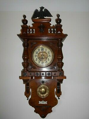 ANTIQUE GERMAN  Wall Clock  c1890 (Collection from Eastbourne )
