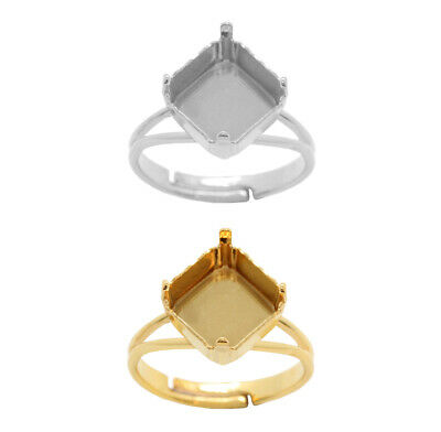 Brass Adjustable Ring Bases for 4480 Imperial 10mm Fancy Crystals * Choose Color