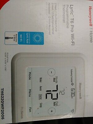 Honeywell Lyric T6 Thermostat Pro WiFi Programmable Th6220wf2006