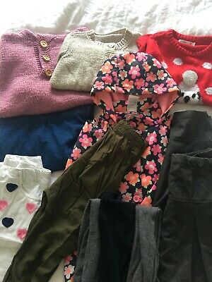 Girls clothing bundle, age 5-6. Great for winter! Raincoat,jumpers,dress & more