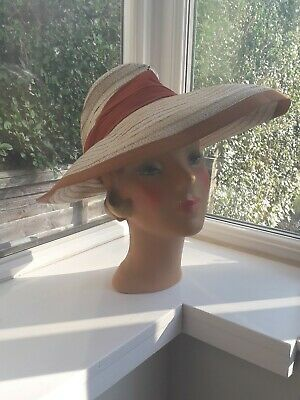 1930s/1940s Natural Straw Hat