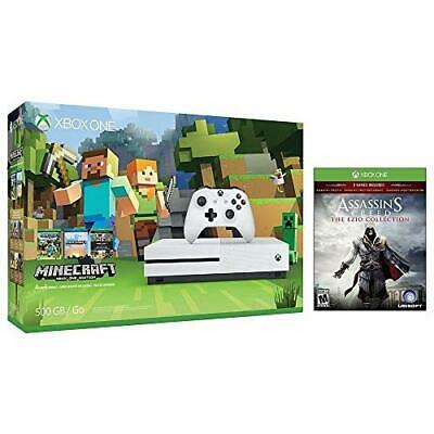 Xbox One S Console Bundle: Xbox One S 500GB Console Minecraft Bundle Video Game