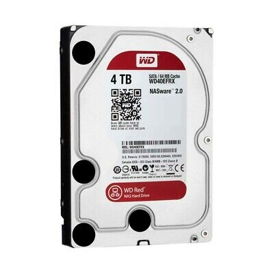"""3.5"""" Disco Duro 4TB WD NAS RED WD40EFRX SATA3 64MB 5400rpm"""