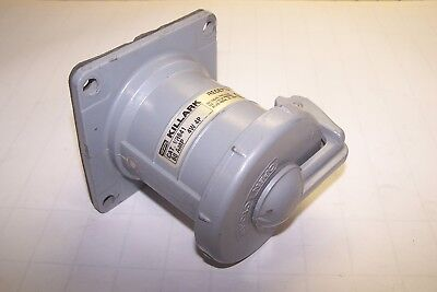 Hubbell Killark 60 Amp 250 Vdc 600 Vac 4 Wire 4 Pole Receptacle Vr641