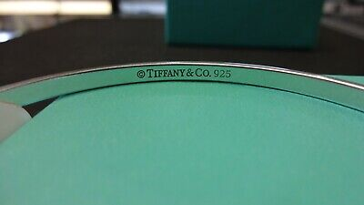 "Pre-owned TIFFANY & CO STERLING SILVER ""Let Me Count The Ways"" Bangle Bracelet"