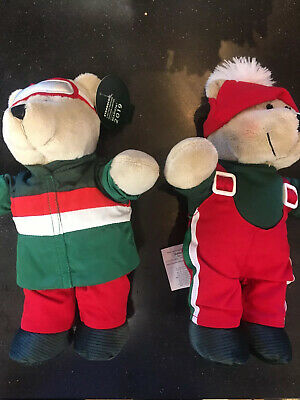 2 Starbucks Bearista Bears Plush 2019 Christmas Limited Edition New
