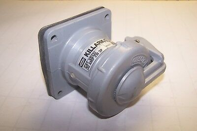 Hubbell Killark 30 Amp 250 Vdc 600 Vac 2 Wire 3 Pole Receptacle Vr332