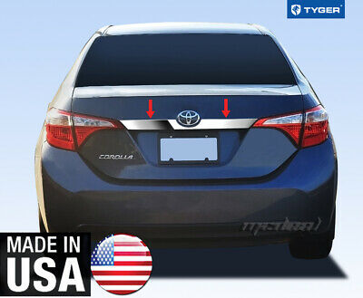 Stainless Steel Trunk Trim W// Logo Cutout 1PC Fits Toyota Camry  12-14