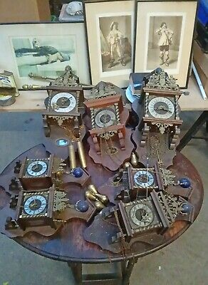 SEVEN DUTCH PENDULUM & WEIGHT  WALL CLOCKS collection from  BISHOP AUCKLAND