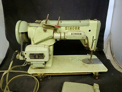 Singer 319W Sewing Machine tested working green needs a cleaning