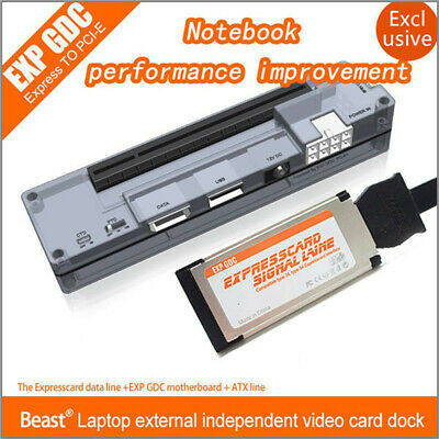 EXP GDC Laptop External PCI-E Graphics Card for Beast Expresscard V8.0 wcable