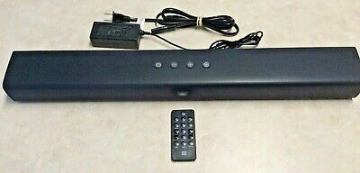 JBL Bar Studio 2.0 - Channel Soundbar with Bluetooth Remote Power Chord Incl EUC