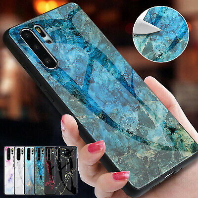 For Huawei P30 Pro Case P20 Lite Mate 20 Honor 8X Rubber Tempered Glass Cover