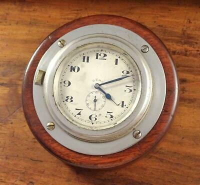 ANTIQUE EARLY 1900s OCTO 8 DAY CAR AUTO CLOCK - IN HANGING WALL MOUNT - CLASSIC