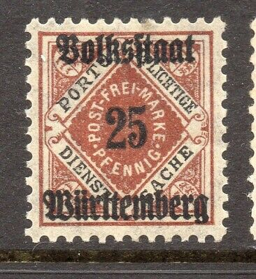 Bavaria Bayern 1919 Early Issue Fine Mint Hinged 25pf. Optd NW-15474