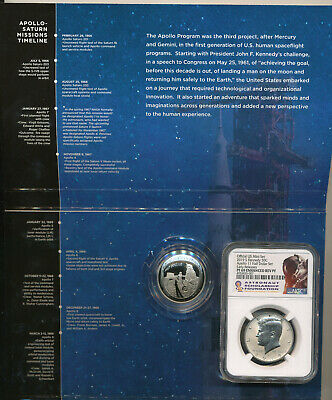 2019 S Apollo 11 50th Anniversary Half Dollar 2 pc Proof set NGC Reverse Kennedy