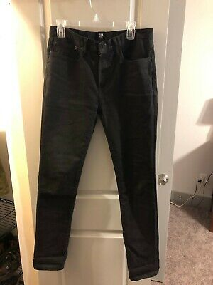 GAP Men's Black 1969 Jeans, Skinny Stretch, 31x32