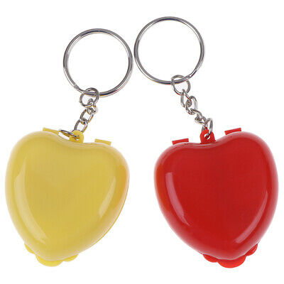 1Pc CPR Face Shield For Resuscitator Keychain Heart Shape First Aid Rescue Kit3C