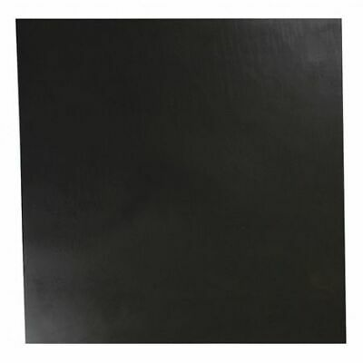 "E. JAMES 4060-1/4A 1/4"" Comm. Grade Buna-N Rubber Sheet, 12""x12"", Black, 60A"