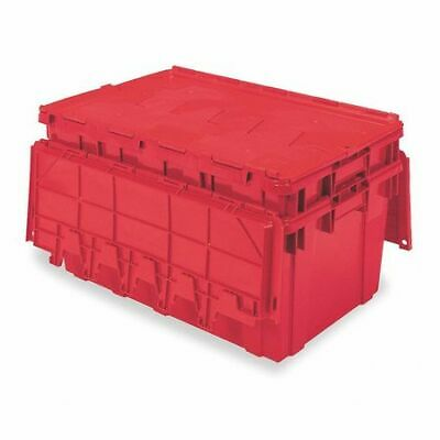 BUCKHORN AR2717120202000 Attached Lid Container, 2.25 cu. ft., Red