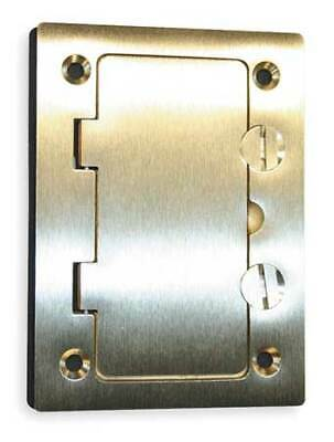 HUBBELL WIRING DEVICE-KELLEMS S3826 Floor Box Cover,Rectangular,Brass