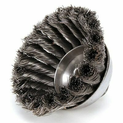 WEILER 97427 Cup Wire Brush, Threaded Arbor, 3-1/2""