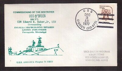 Usa 1977 Cover, Destroyer Uss O'brien !!